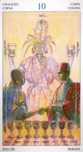 10 Кубков Таро Мир Духов Tarot of the Spirit World