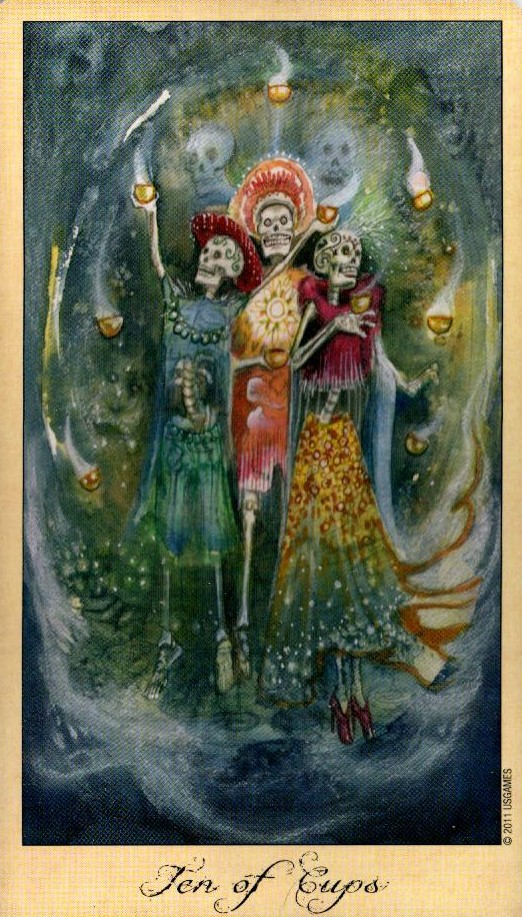 10 Кубков Таро Призраков и Духов Ghosts & Spirits Tarot