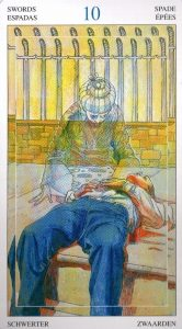 10 Мечей Таро Мир Духов Tarot of the Spirit World