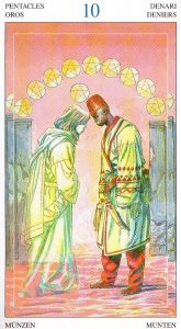 10 Пентаклей Таро Мир Духов Tarot of the Spirit World
