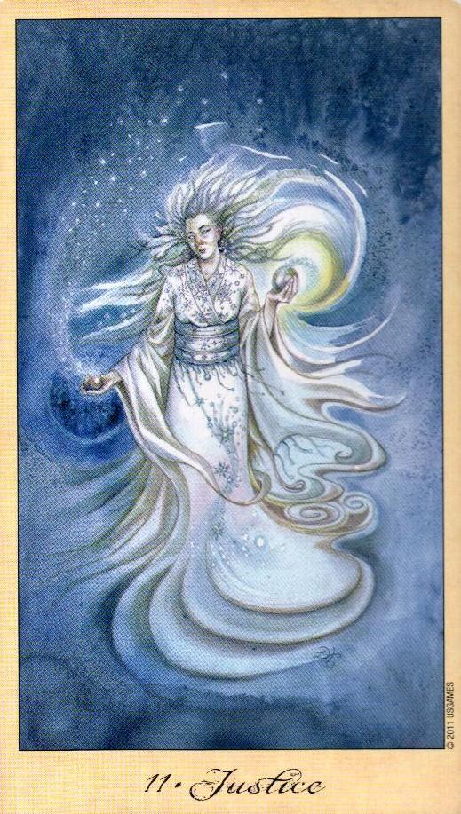 11 Справедливость Таро Призраков и Духов Ghosts & Spirits Tarot
