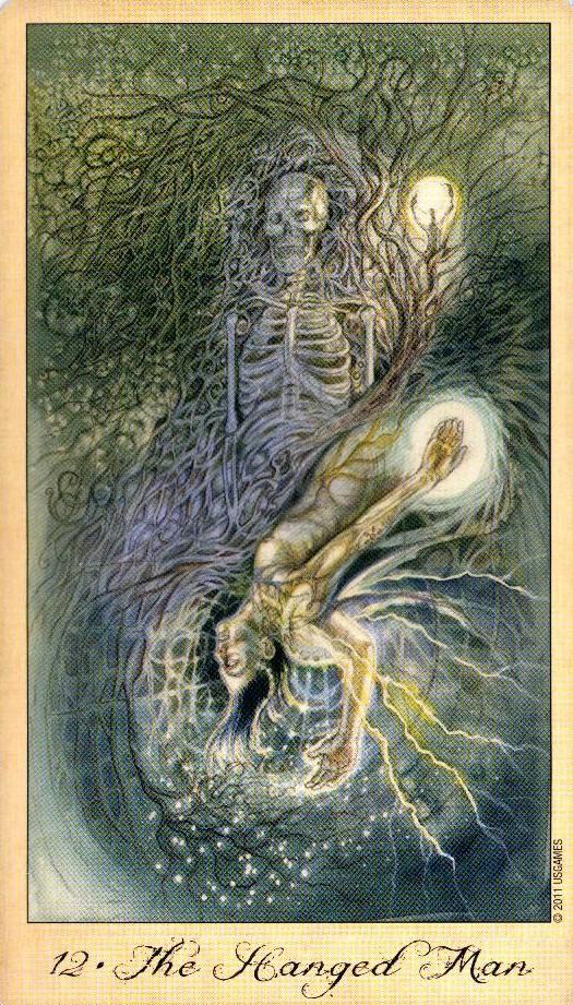 12 Повешенный Таро Призраков и Духов Ghosts & Spirits Tarot