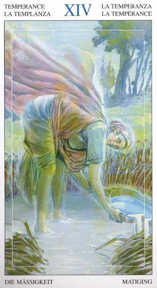 14 Умеренность Таро Мир Духов Tarot of the Spirit World