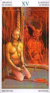 15 Дьявол Таро Мир Духов Tarot of the Spirit World