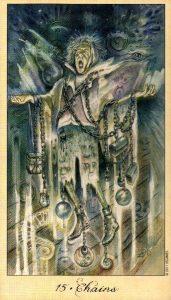 15 Цепи Дьявол Таро Призраков и Духов Ghosts & Spirits Tarot