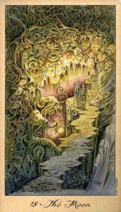 18 Луна Таро Призраков и Духов Ghosts & Spirits Tarot