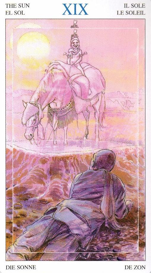 19 Солнце Таро Мир Духов Tarot of the Spirit World