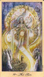 19 Солнце Таро Призраков и Духов Ghosts & Spirits Tarot