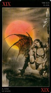 19 Солнце Темное Таро Ройо