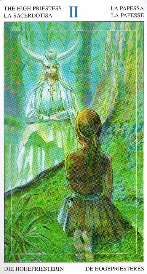 2 Жрица Таро Мир Духов Tarot of the Spirit World