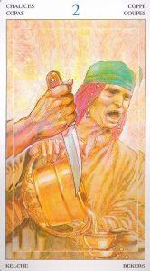 2 Кубков Таро Мир Духов Tarot of the Spirit World