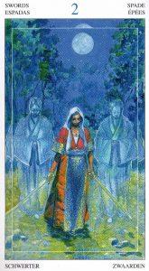 2 Мечей Таро Мир Духов Tarot of the Spirit World