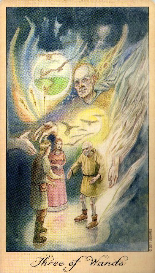 3 Жезлов Таро Призраков и Духов Ghosts & Spirits Tarot