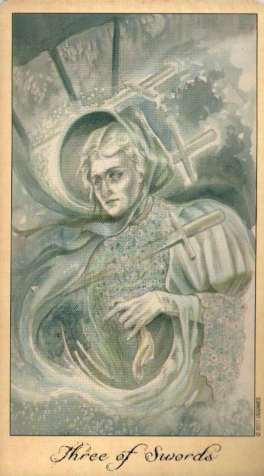 3 Мечей Таро Призраков и Духов Ghosts & Spirits Tarot