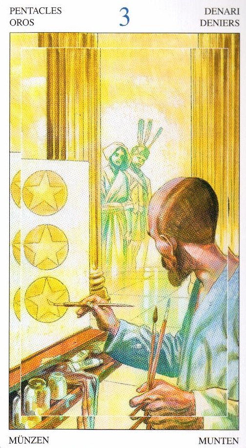 3 Пентаклей Таро Мир Духов Tarot of the Spirit World