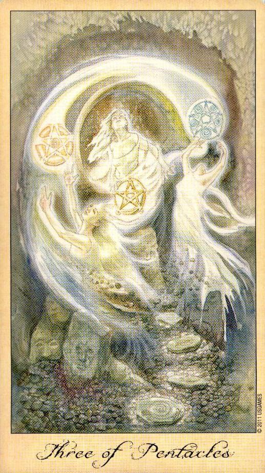 3 Пентаклей Таро Призраков и Духов Ghosts & Spirits Tarot