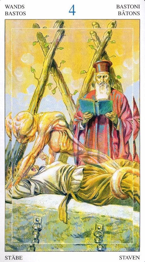 4 Жезлов Таро Мир Духов Tarot of the Spirit World