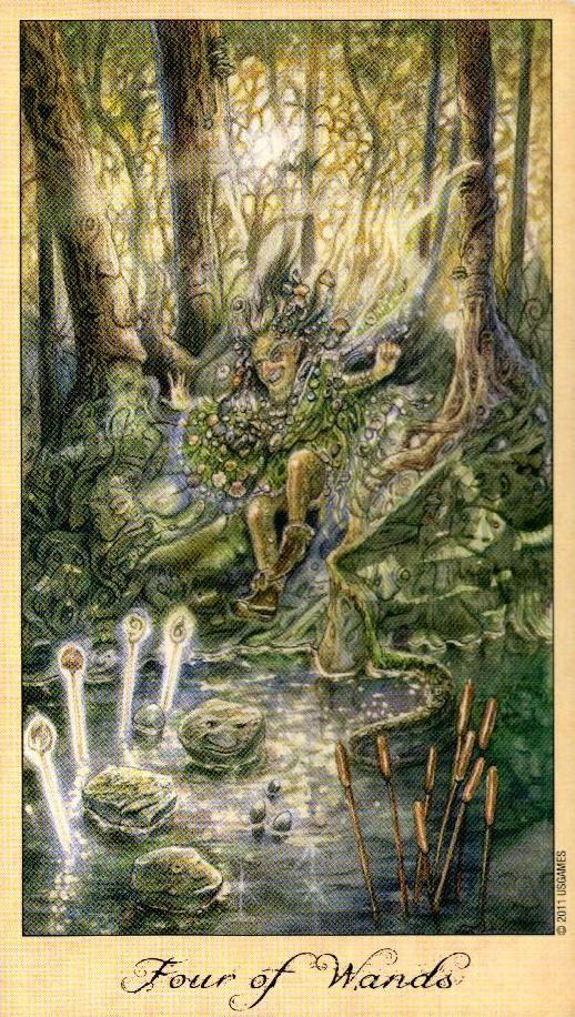 4 Жезлов Таро Призраков и Духов Ghosts & Spirits Tarot