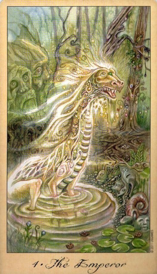 4 Император Таро Призраков и Духов Ghosts & Spirits Tarot