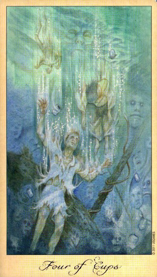 4 Кубков Таро Призраков и Духов Ghosts & Spirits Tarot