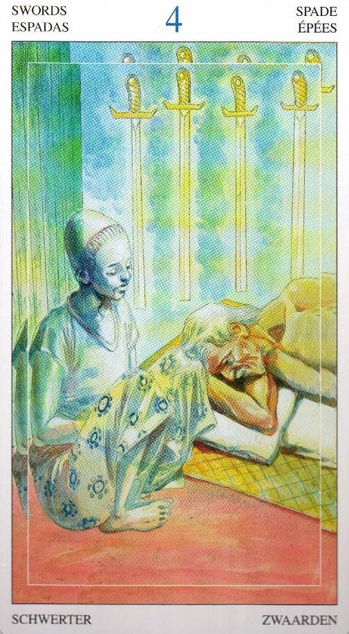 4 Мечей Таро Мир Духов Tarot of the Spirit World