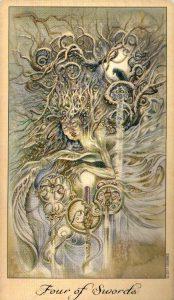 4 Мечей Таро Призраков и Духов Ghosts & Spirits Tarot