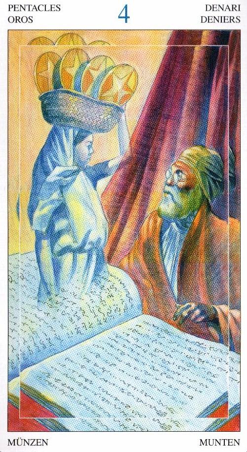 4 Пентаклей Таро Мир Духов Tarot of the Spirit World