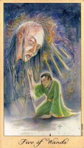 5 Жезлов Таро Призраков и Духов Ghosts & Spirits Tarot