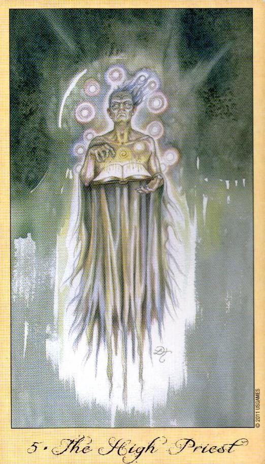 5 Иерофант Жрец Таро Призраков и Духов Ghosts & Spirits Tarot