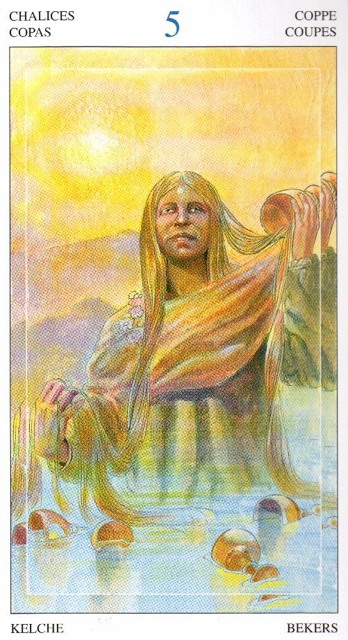 5 Кубков Таро Мир Духов Tarot of the Spirit World