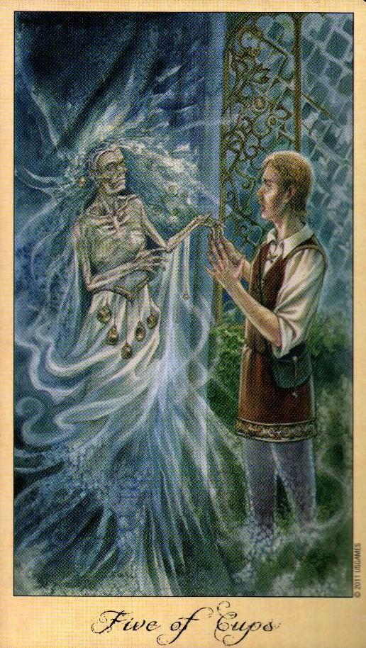 5 Кубков Таро Призраков и Духов Ghosts & Spirits Tarot