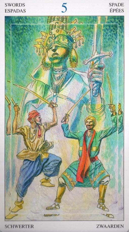 5 Мечей Таро Мир Духов Tarot of the Spirit World