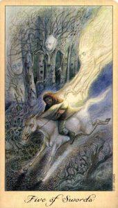 5 Мечей Таро Призраков и Духов Ghosts & Spirits Tarot
