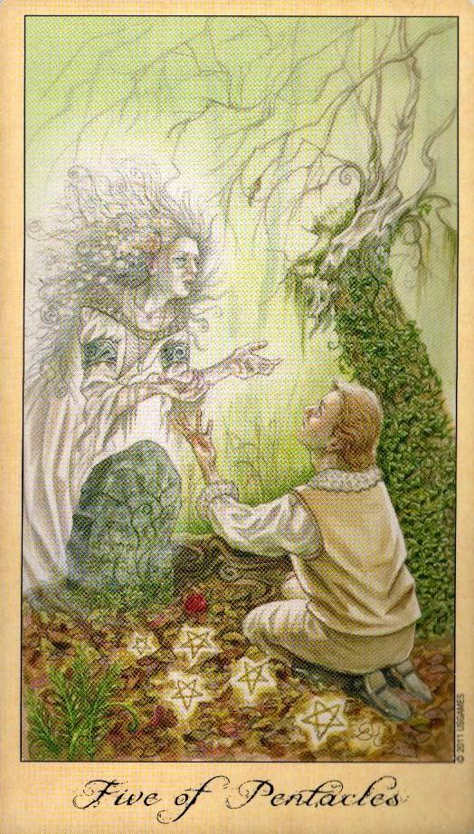 5 Пентаклей Таро Призраков и Духов Ghosts & Spirits Tarot
