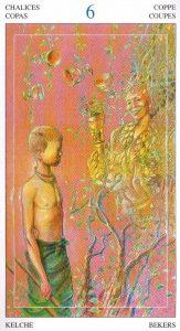 6 Кубков Таро Мир Духов Tarot of the Spirit World
