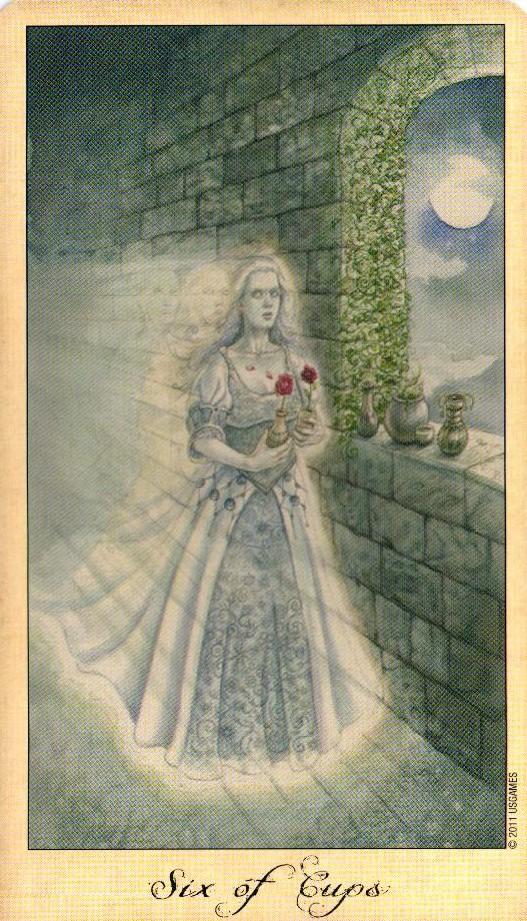 6 Кубков Таро Призраков и Духов Ghosts & Spirits Tarot