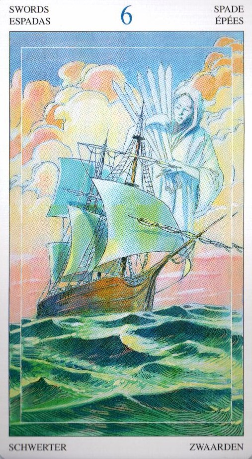6 Мечей Таро Мир Духов Tarot of the Spirit World