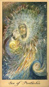 6 Пентаклей Таро Призраков и Духов Ghosts & Spirits Tarot