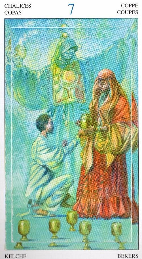 7 Кубков Таро Мир Духов Tarot of the Spirit World