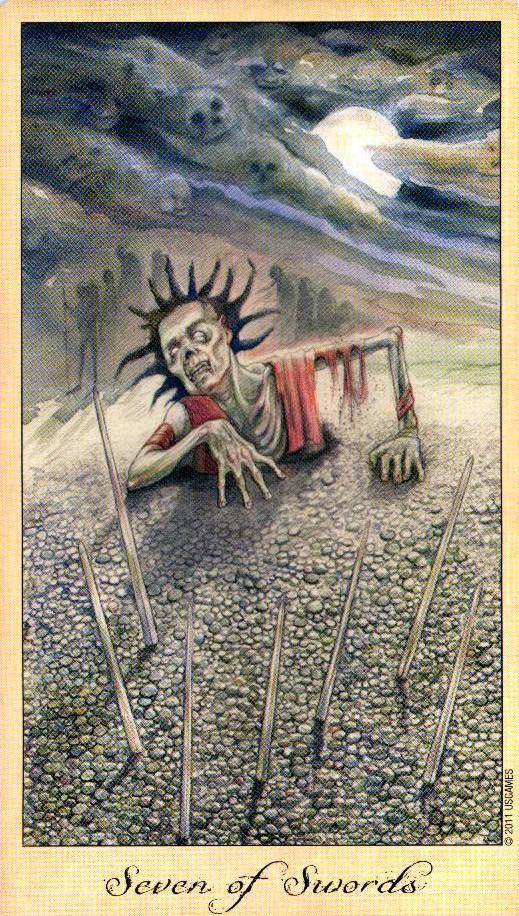 7 Кубков Таро Призраков и Духов Ghosts & Spirits Tarot