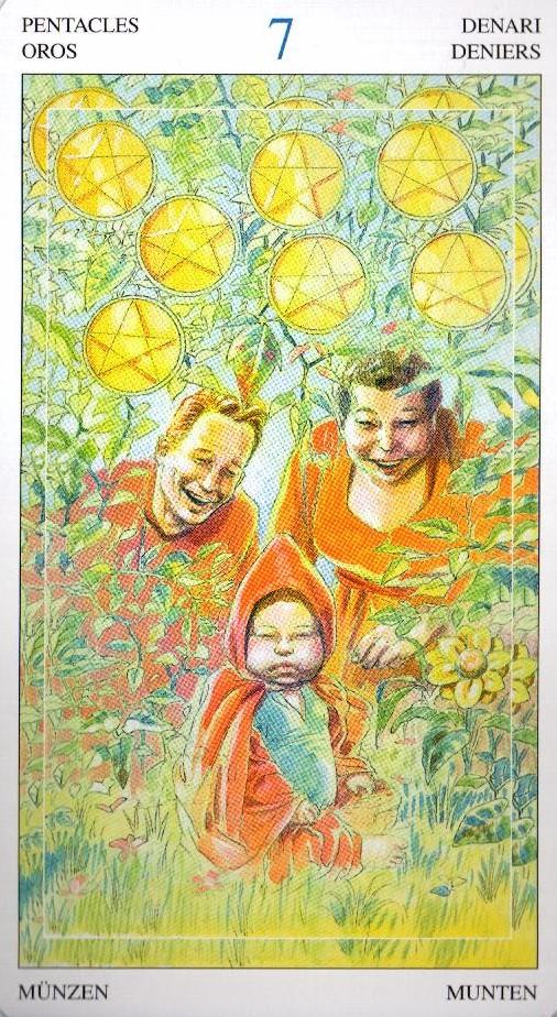 7 Пентаклей Таро Мир Духов Tarot of the Spirit World