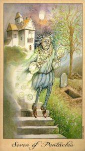 7 Пентаклей Таро Призраков и Духов Ghosts & Spirits Tarot
