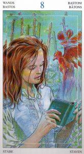 8 Жезлов Таро Мир Духов Tarot of the Spirit World