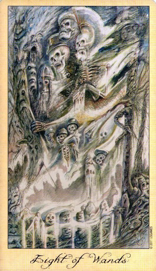 8 Жезлов Таро Призраков и Духов Ghosts & Spirits Tarot