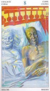 8 Кубков Таро Мир Духов Tarot of the Spirit World
