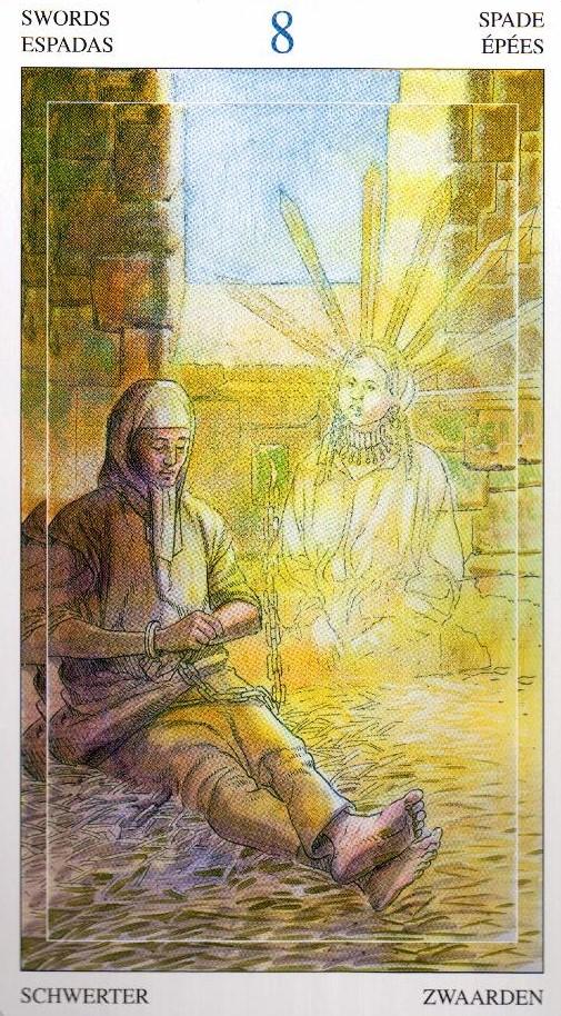 8 Мечей Таро Мир Духов Tarot of the Spirit World