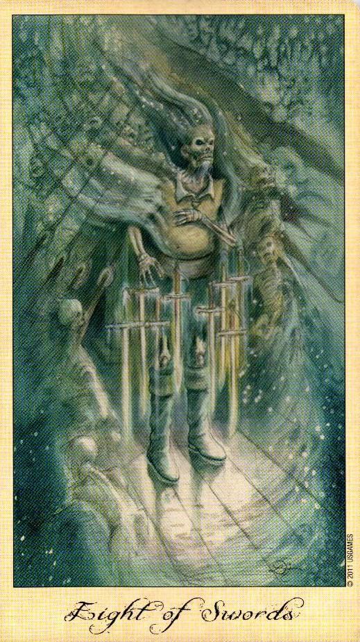 8 Мечей Таро Призраков и Духов Ghosts & Spirits Tarot