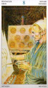 8 Пентаклей Таро Мир Духов Tarot of the Spirit World