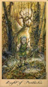 8 Пентаклей Таро Призраков и Духов Ghosts & Spirits Tarot