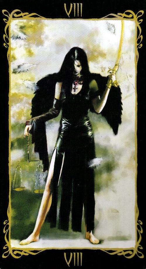 8 Правосудие Справедливость Таро Темных Ангелов